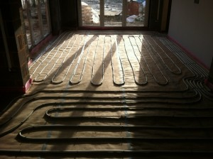 underfloor heating zones